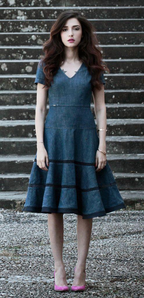 Miss sixty black angel sleeve dress
