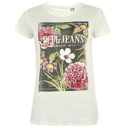 Tee Shirt Femme Pepe Jeans Chrissie Blanc - LaBoutiqueOfficielle.com