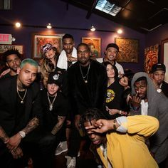Chris Brown, J. Cole, Jennifer Lopez, Justin Bieber, Big Sean, Kanye West, Alfredo Flores, Kendall Jenner, Kylie Jenner, Tyga, Meek Mill, and Travi$ Scott hanging out at House of Blues Sunset Strip!
