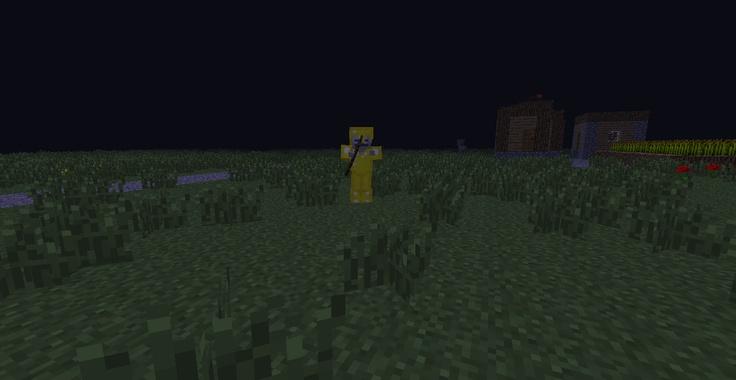 Minecraft Skeleton wearing gold (butter) armor Minecraft