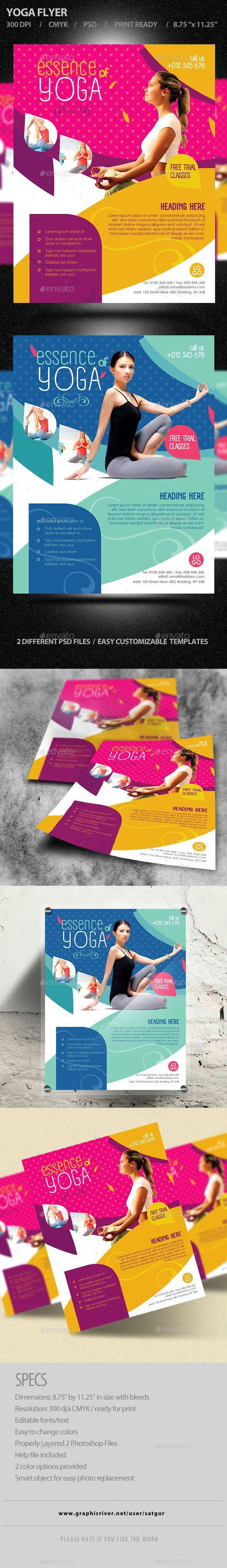 Flying Yoga / Volante Fitness – Plantillas de folletos – # Folleto # Fitness …   – ideas de diseño