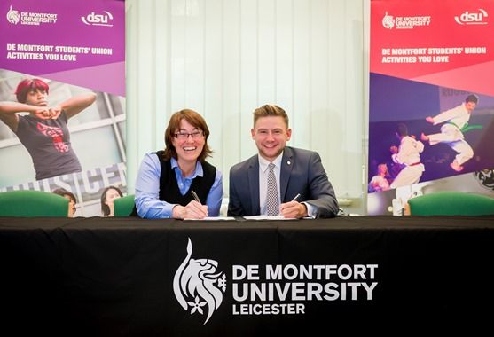 One of Europe's elite hockey teams has signed a unique partnership with DMU to nurture future champions not just in sport but in the workplace too.