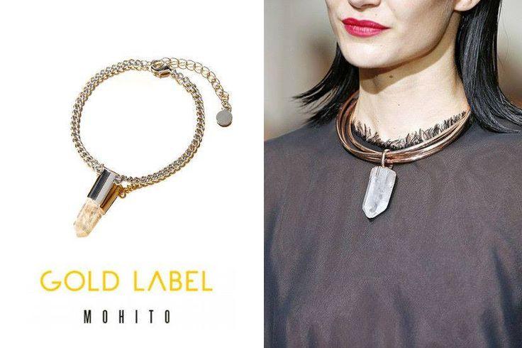 Biżuteria z kolekcji Gold Label Mohito! Natura niezmiennie inspiruje! Odwołania do fascynującej struktury kryształu. Bransoletkę kupicie tutaj: bit.ly/15NBglj oraz w salonie w GH Sky Tower. Zapraszamy!