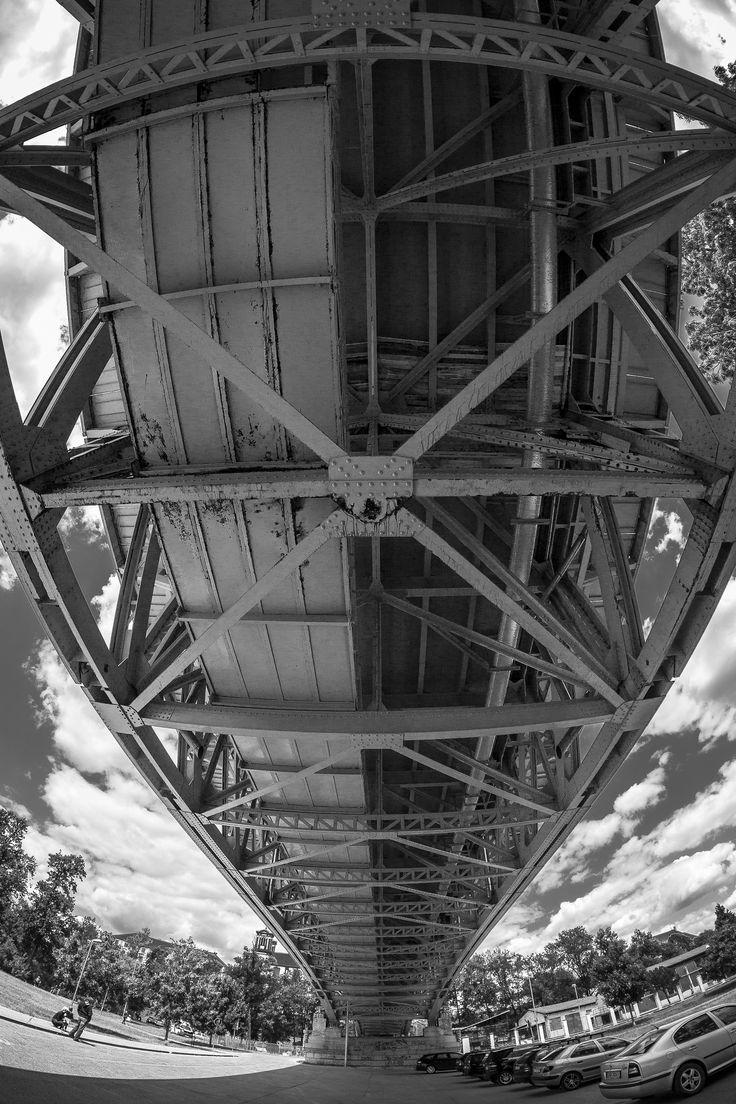 https://flic.kr/p/yLJq6B | Tyršův most vzhůru | Tyršův most Litoměřice