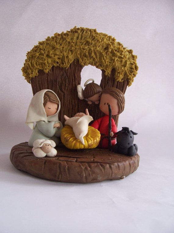 Handcrafted Christmas Nativity Set by GinaCarrascoHandmade on Etsy