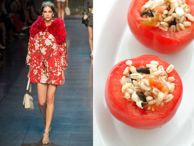 Dolce & Gabbana ss 2014 / Tomatoes stuffed with spelt and mozzarella