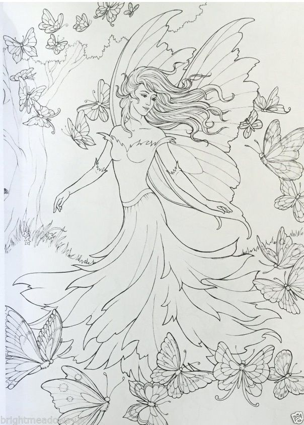 Fairy Lane Adult Colouring Book Creative Art Therapy Fantasy Mystical Fairies 5