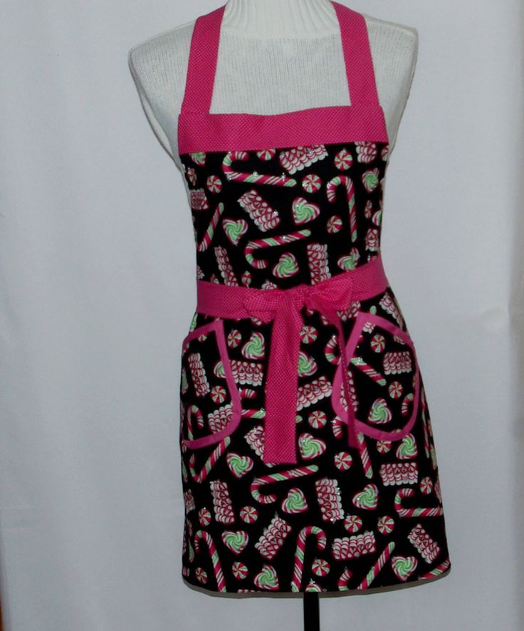 Christmas Apron, Full Long Bib With Pockets, Mom, Sister, Matching Family Aprons, Custom Gift, Personalize With Name, Ships TODAY AGFT 1233 by AGiftToTreasure on Etsy https://www.etsy.com/listing/570705989/christmas-apron-full-long-bib-with