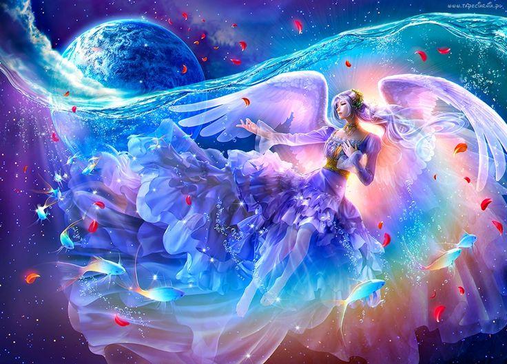 Fantasy, Anioł, Kobieta