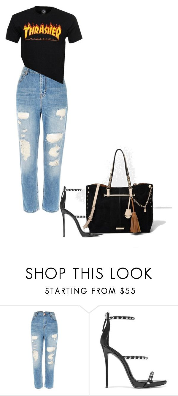 """""""charlotte"""" by kyaneeee on Polyvore featuring River Island and Giuseppe Zanotti"""
