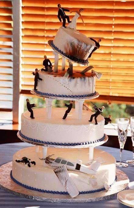 casamento | Bolos diferentes de casamento, lindos e divertidos