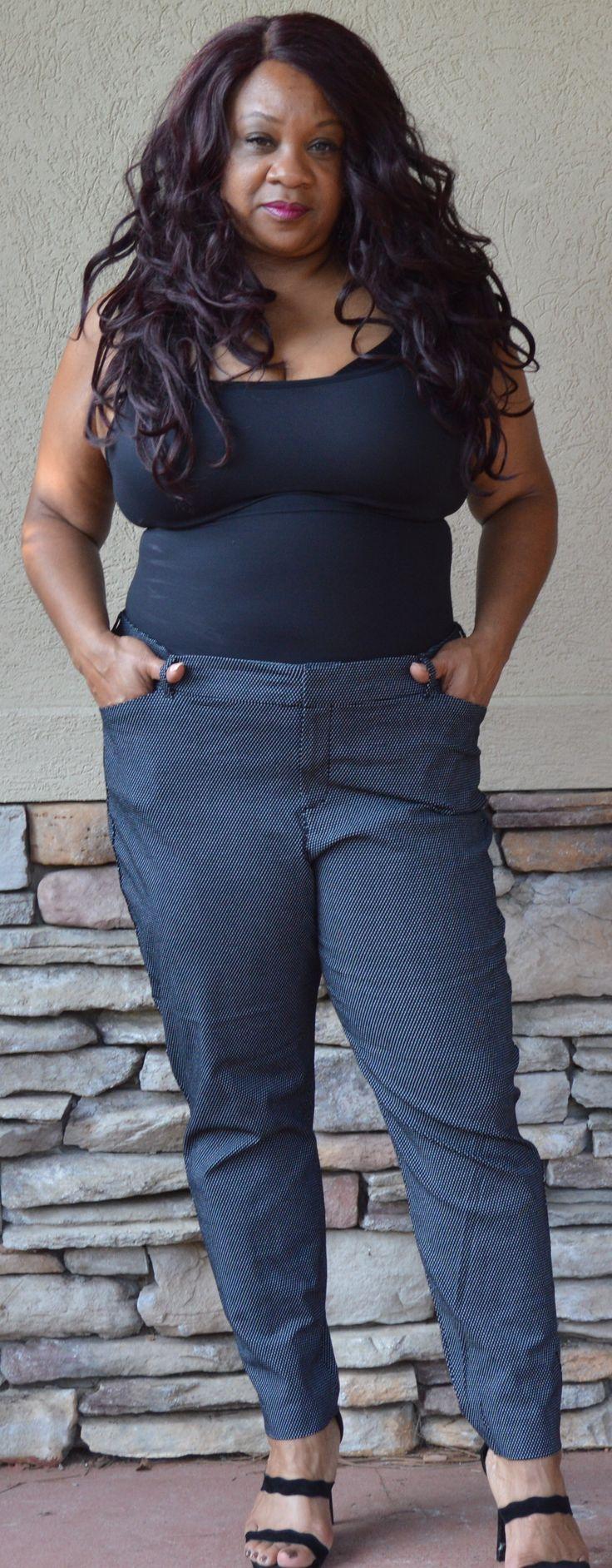 #OldNavy Black and White Pixie Stitch Design Pants Size 20 Regular #Plussize #plussizefashion