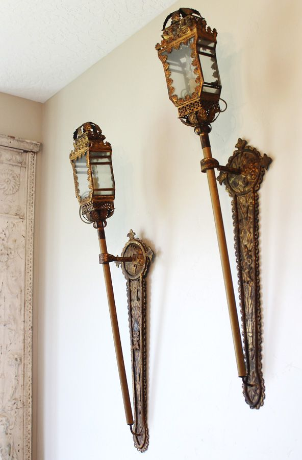 614 best paris couture antiques images on pinterest glass mirror incredible antique italian tochiere lantern wall sconces antique lighting chandelier wall sconces mozeypictures Image collections