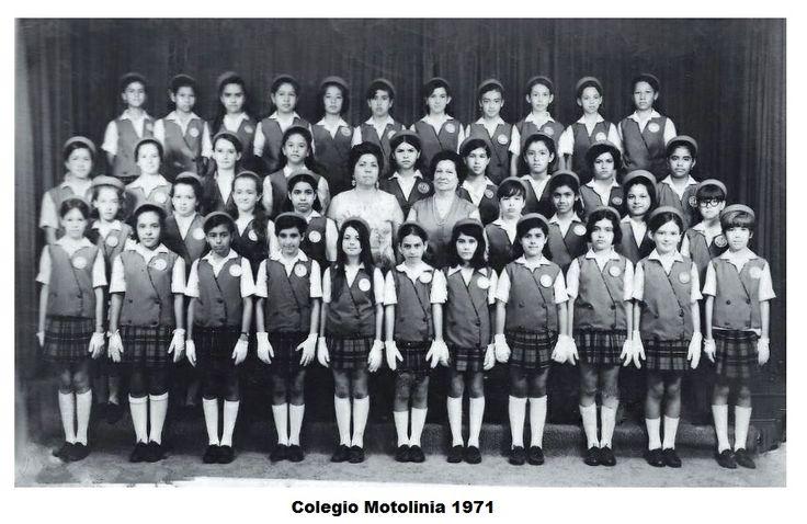 Colegio Motolinia   Mayo de 1971 6to A