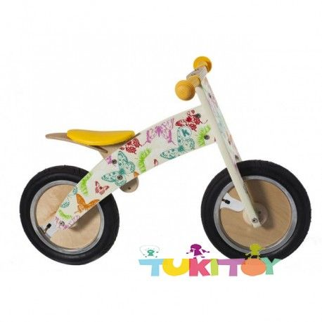 Bicicleta aprendizaje de madera Kiddimoto Kurve butterflies #Kiddimoto  #bicicletas #sinpedales de madera #Kiddimoto son perfectas para el #aprendizaje. Estas #bicicletas desarrollan la #motricidad gruesa, el sentido del #equilibrio y la #coordinación. Les enseña a controlar el espacio aumentando su autoconfianza y #seguridad. Fabricada en madera resistente y ligera a la vez permitirá al #niño desplazarse sin mayor dificultad, el sillín es regulable a distintas alturas