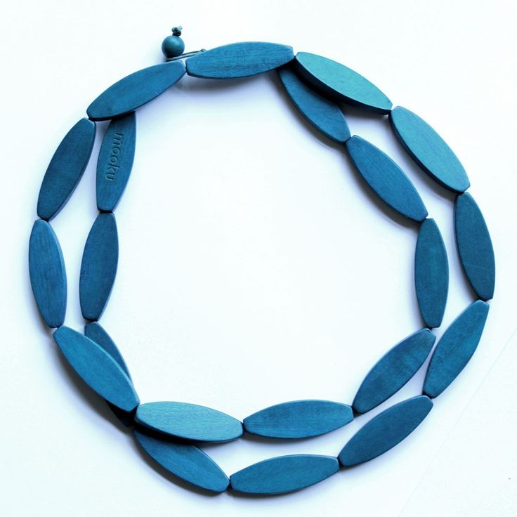 Sea Tangle Wooden Necklace - Blue - hardtofind.