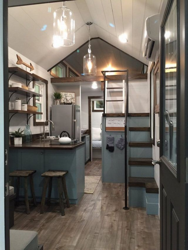 35 Exciting Tiny House Design Ideas To Inspire You Page 15 Of 35 House Design Kitchen Tiny Kitchen Design Tiny House Kitchen