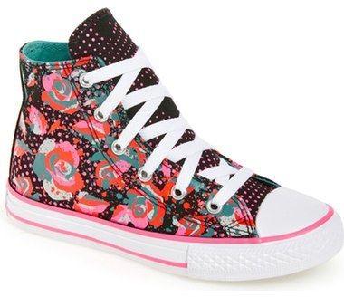 Converse Chuck Taylor ® All Star ® 'Neon Floral' High Top Sneaker (Toddler…