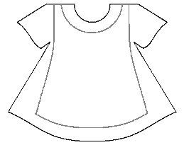 Dress/apron template