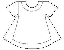 Dress/apron template