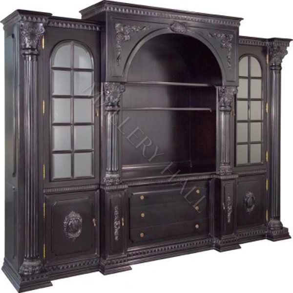 Old World 3 Piece Entertainment Center Bookcase Tv 8 330 00 Mallery Hall Fine High End