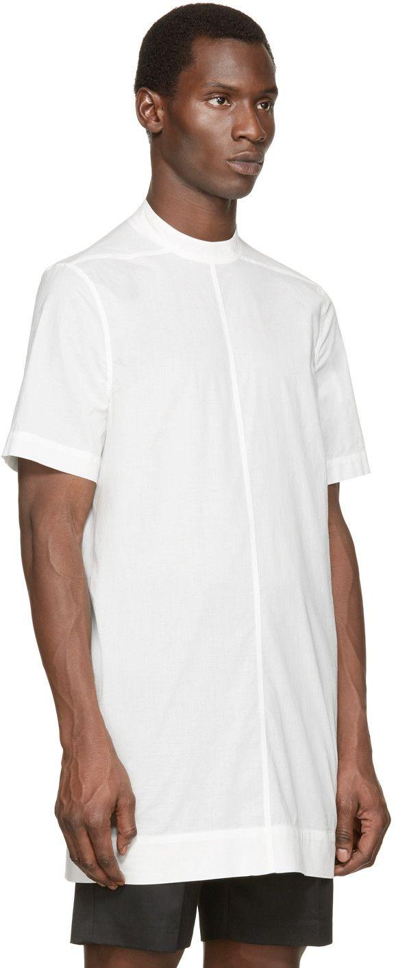 Rick Owens White Poplin Moody Tunic