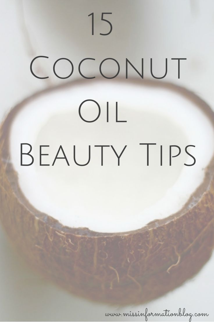15 Coconut Oil Beauty tips – We can't get enough of coconut oil for our skin, hair and cuticles. Read more about this popular, multi-purpose pantry staple // via Miss Information