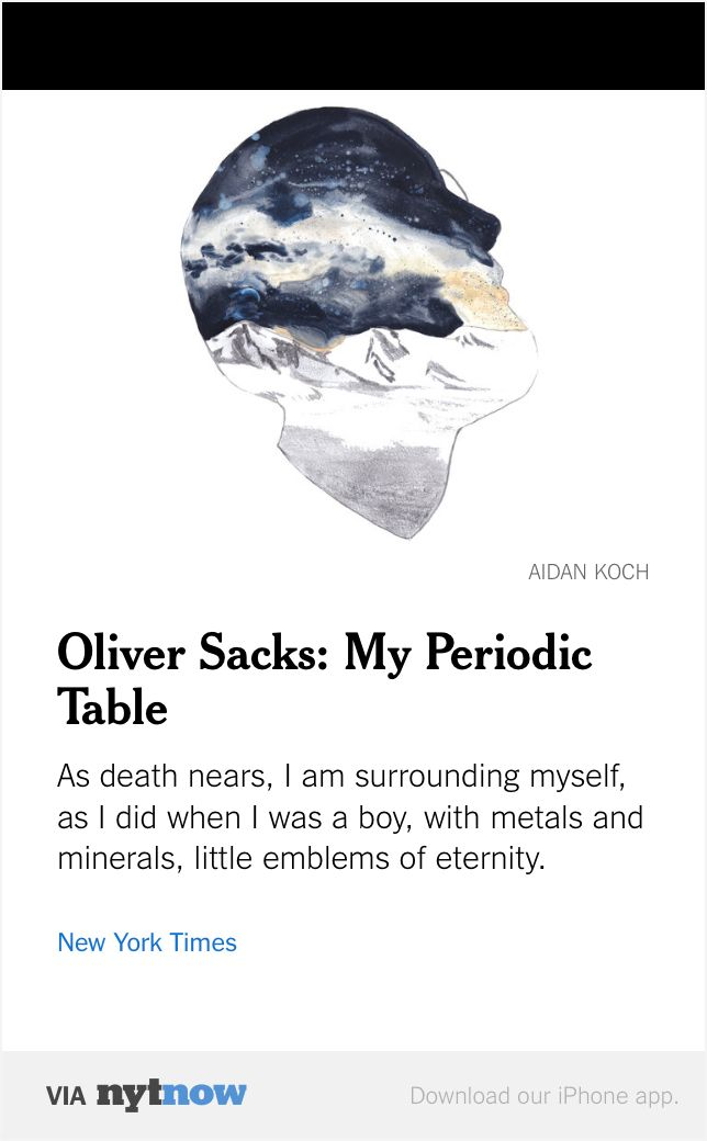 Oliver Sacks My Periodic Table Writing \ Drawing \ Talking - new periodic table download