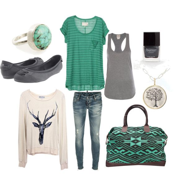 Minusnthe deer shirt....Going West, created by lagu on Polyvore