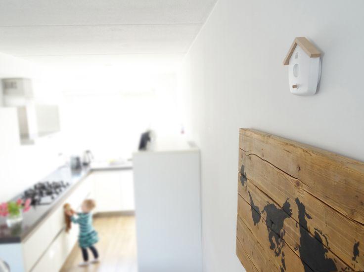 stijlvolle rookmelder Interior Scandinavian stylish design birdhouse vogelhuis vogelhuisje smoke detector