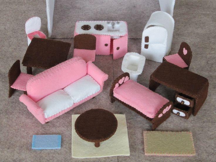 Felt Dollhouse Furniture Feltro Pinterest Furniture