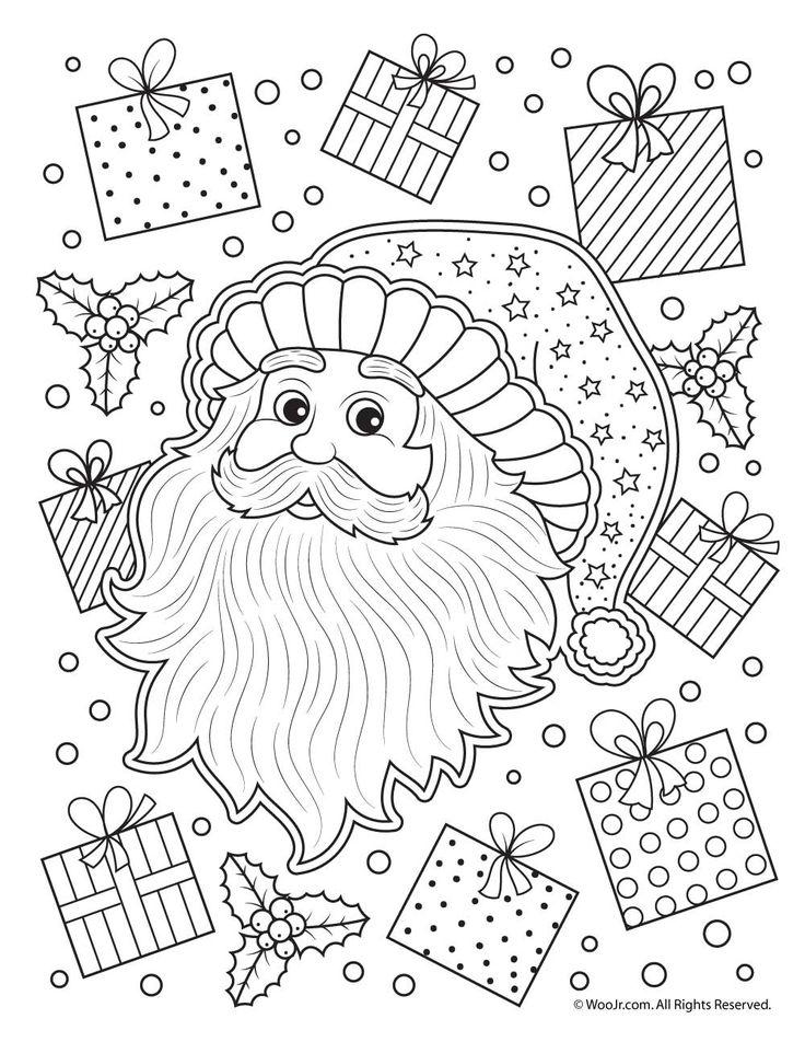Santa Claus Adult Coloring Pages