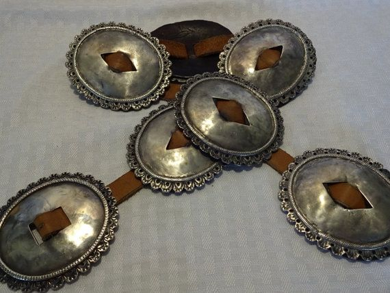 Rare Navajo First Phase Concho Belt Circa 1890s To 1920s