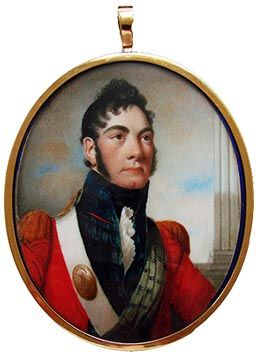An Officer of the 42nd Regiment of Foot, The Royal Highlanders,  by Alexander Gallaway, signed & dated Edinburgh, 1809. Portrait Miniature.: Alexander Gallaway, Napoleon Wars, Scottish Military, Antiques Portraits, Portraits Miniatures, Royal Highlands, 42Nd Regiment, Miniatures Portraits, Scottish Portraits