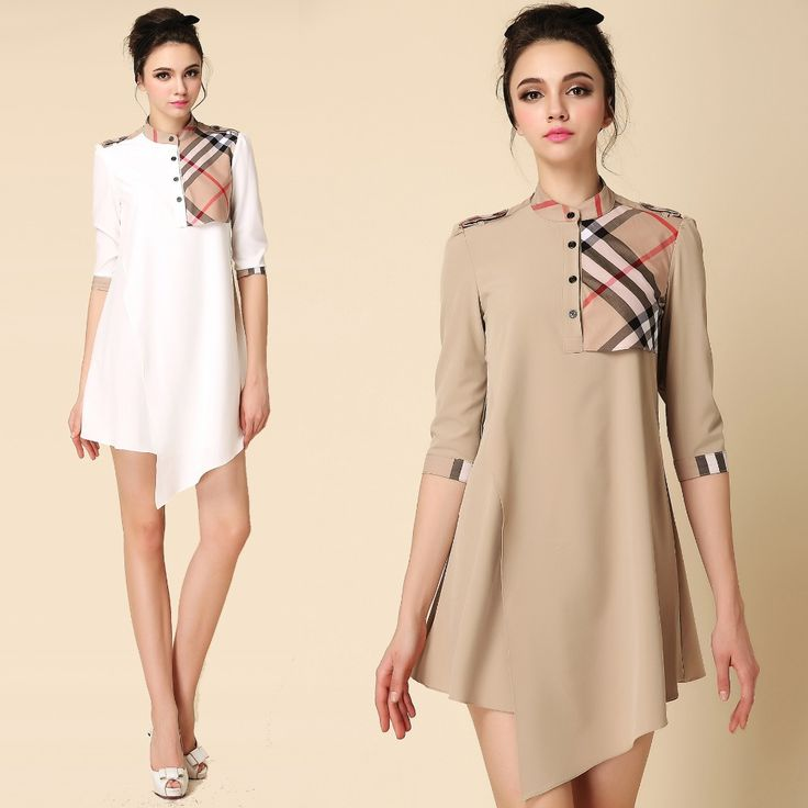 Find More Dresses Information about 2015 Burbe Style Asymmetrical Patchwork Plaid Women White Loose Dress Half Sleeve Fashion Irregular Casual Dresses Vestidos,High Quality dress wrap,China dress example Suppliers, Cheap dress long sleeve tunic dress from Guillermina Baeza on Aliexpress.com