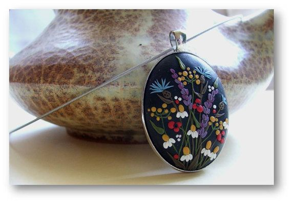 Etsy listing at https://www.etsy.com/listing/167796797/flower-jewelry-spring-flower-jewelry