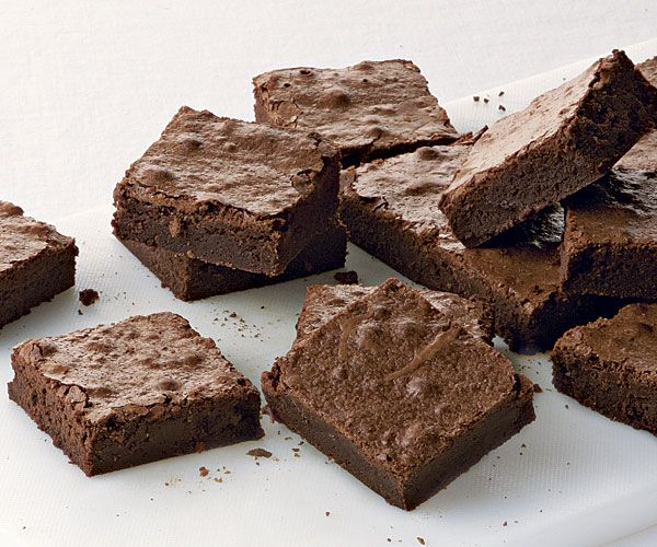 ultimate fudgy brownies ♥       12 oz. (1 1/2 cups) unsalted butter, cut into 9 pieces; more softened for the pan     3-3/4 oz. (1-1/4 cups) unsweetened natural cocoa powder, sifted if lumpy     2-3/4 cups granulated sugar     1/2 tsp. table salt     5 large eggs     2 tsp. pure vanilla extract     7-1/2 oz. (1-2/3 cups) all-purpose flour