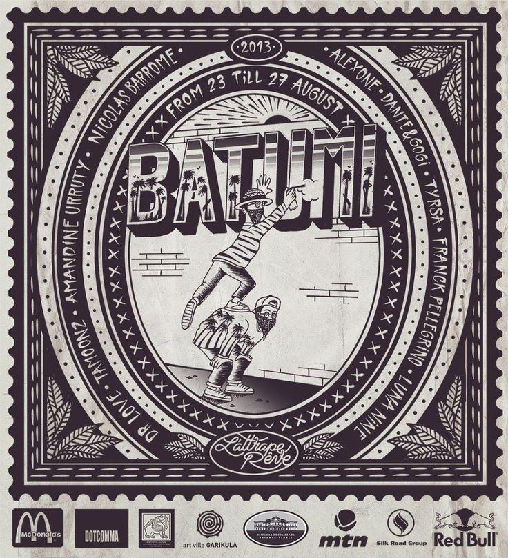 Entre Graff et Tatoo, découvrez Franck Pellegrino - Batumi Festival 2013 - Georgie