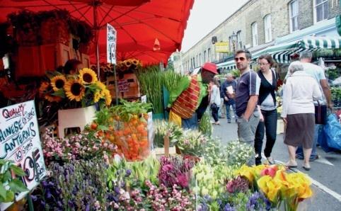 Columbia Road Flower Market.  London