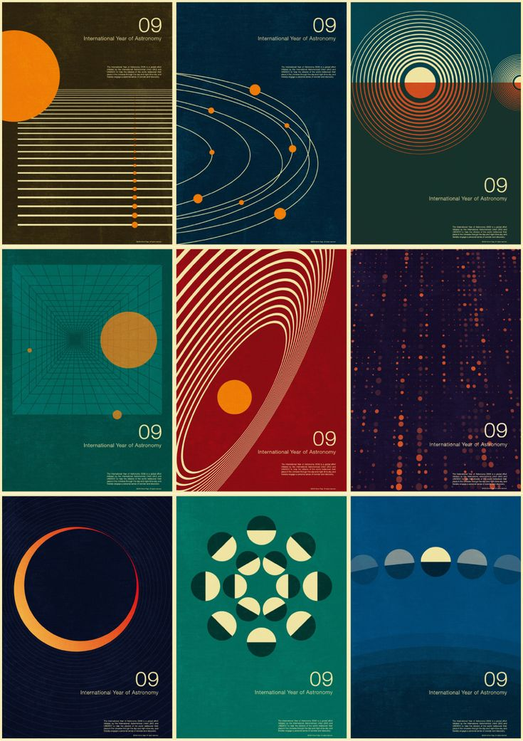 2009 - International year of astronomy. Poster series.