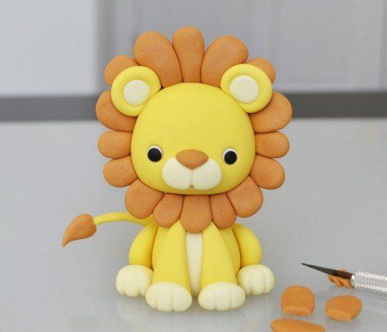 Löwe aus Knete mit Kindern basteln – Bastelanleitung-dekoking-com-4 (Cake Topper Diy)