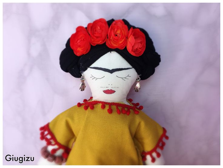 #handmade #fridaKahlo #doll. Video #tutorial on my blog!! #crafting