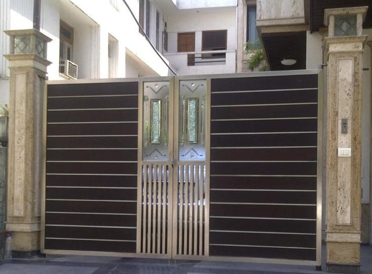 17 best images about gate idea on pinterest stainless for Stainless steel driveway gates designs