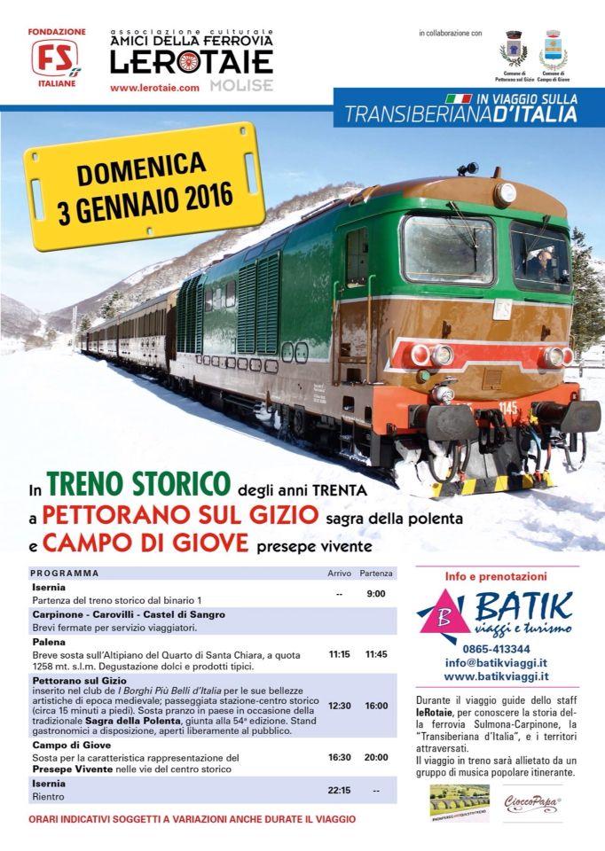 Viaggia con la #Transiberianaditalia il 3 gennaio 2016! Per info www.lerotaie.con #nonperdiamoquestotreno
