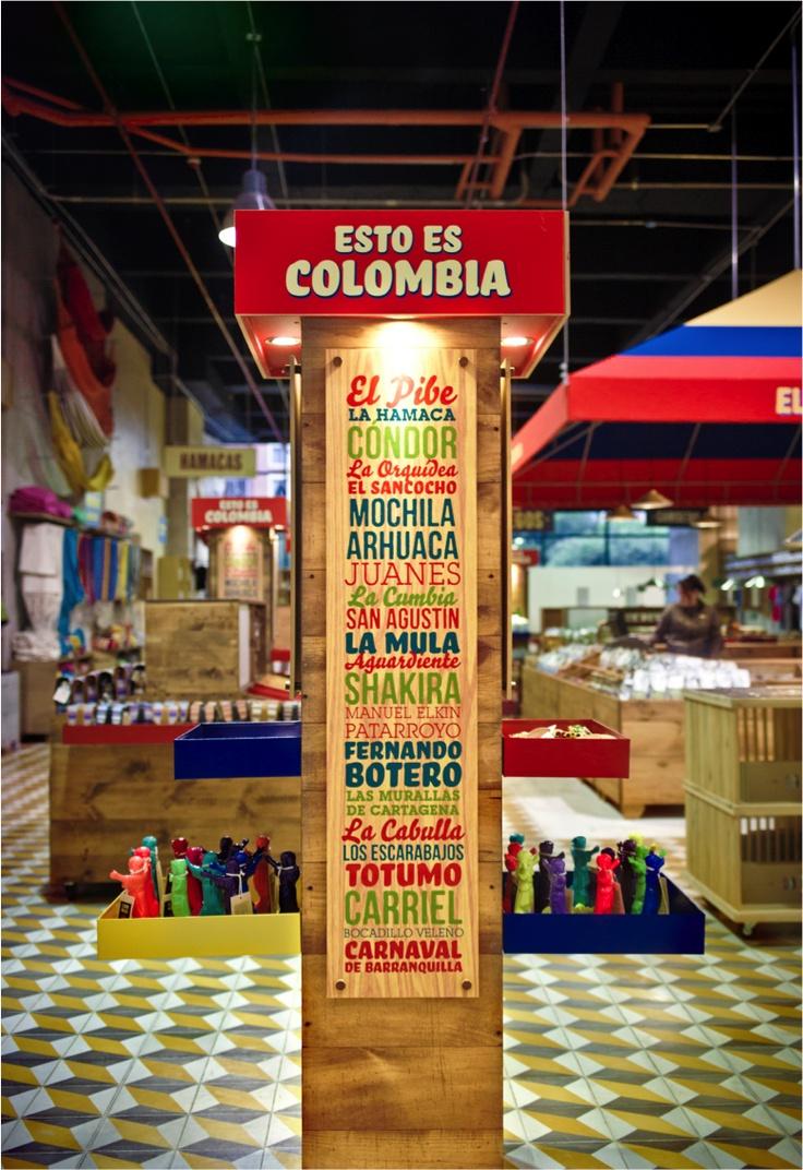 EL MARKET / Diseño de punto de venta. Esto es Colombia !!