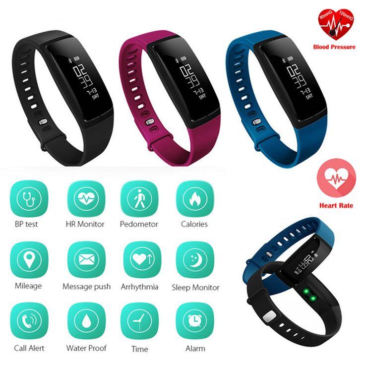 La Presión arterial Inteligente Pulsera Smartband V07 Pulsera Inteligente Podómetro Monitor Del Ritmo Cardíaco de Fitness Bluetooth Para Android IOS Teléfono