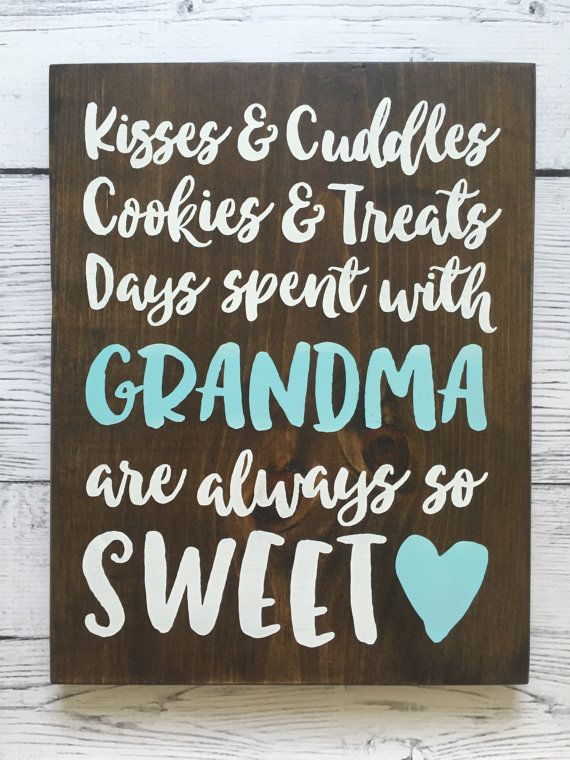 Personalized Wood Sign Grandparent/Mother/Grandma