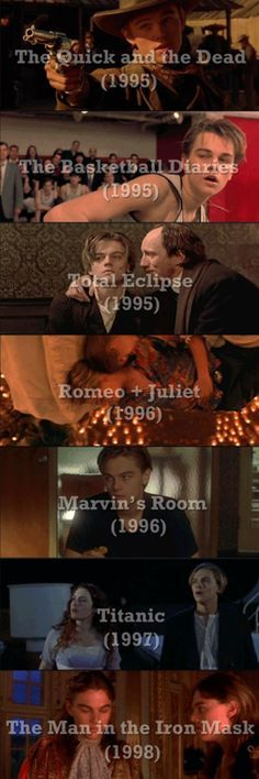 Click on this pic for a full filmography of Leonardo DiCaprio