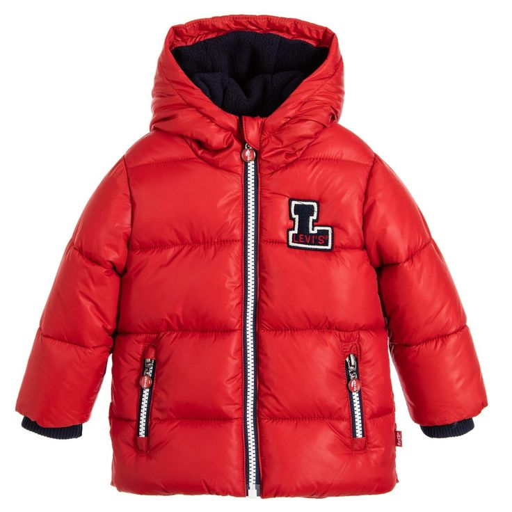 Levi's Baby Boys Red Puffer Jacket at Childrensalon.com