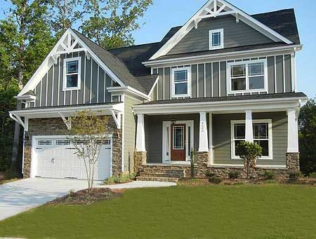 Best 25 craftsman garage door ideas on pinterest garage for Narrow lot house plans with front entry garage
